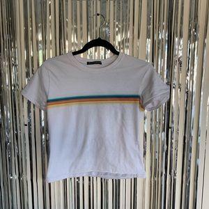 Brandy Melville Rainbow Crop Top